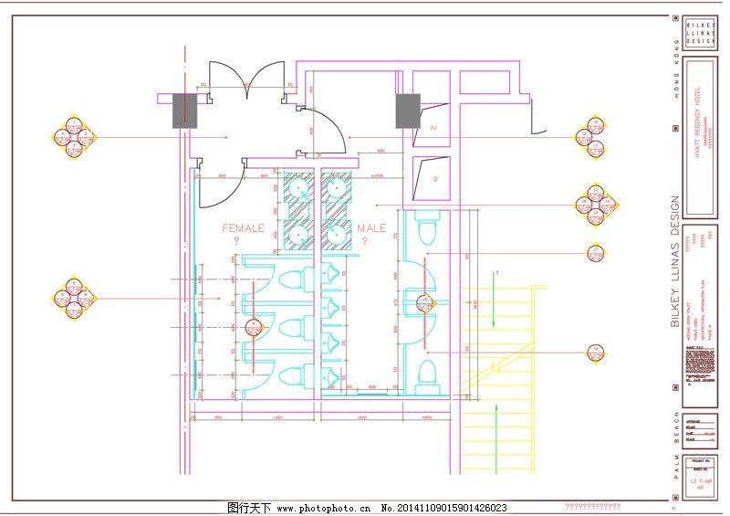 cad设计图 cad效果图 建筑素材 图纸下载 酒店客房内部平面 cad设计图