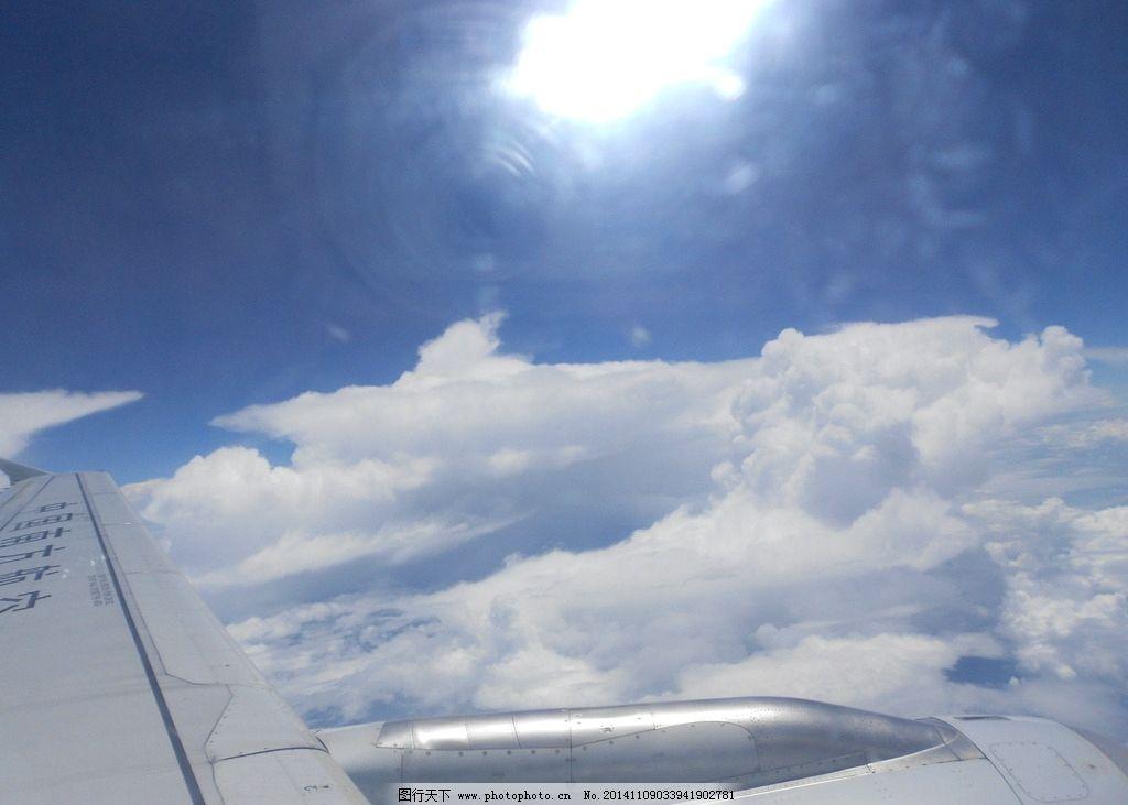 飞机窗口摄影图片