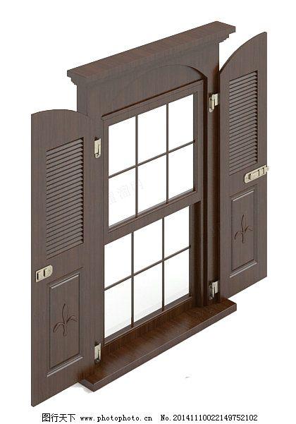 窗户3d模型免费下载 3d模型 窗户 欧式 室内 窗户 3d模型 欧式 构件