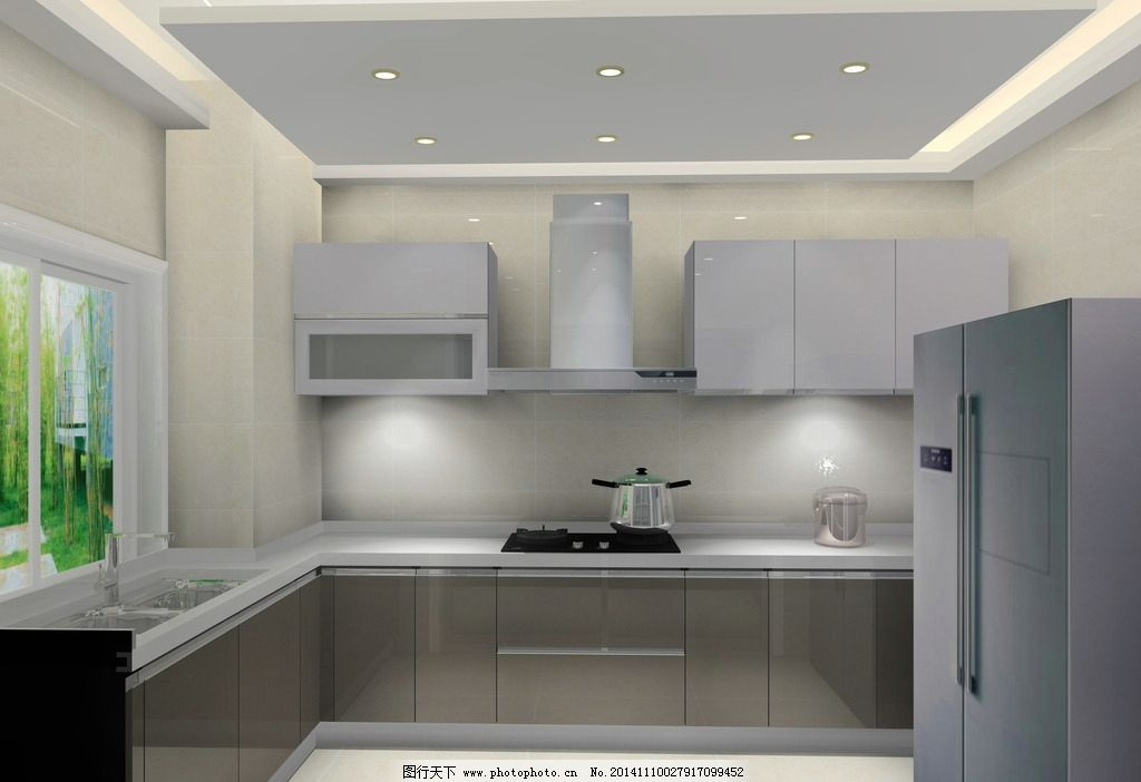 烤漆 橱柜      现代厨房 烤漆橱柜 设计 环境设计 室内设计 72dpi