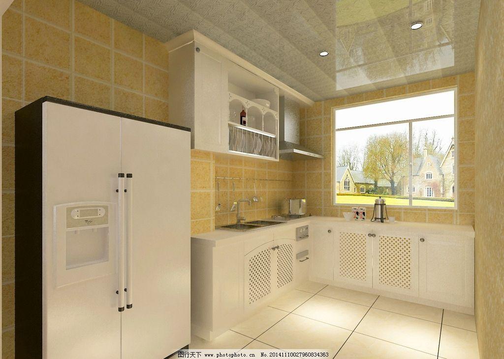 欧式      橱柜 冰箱 白色