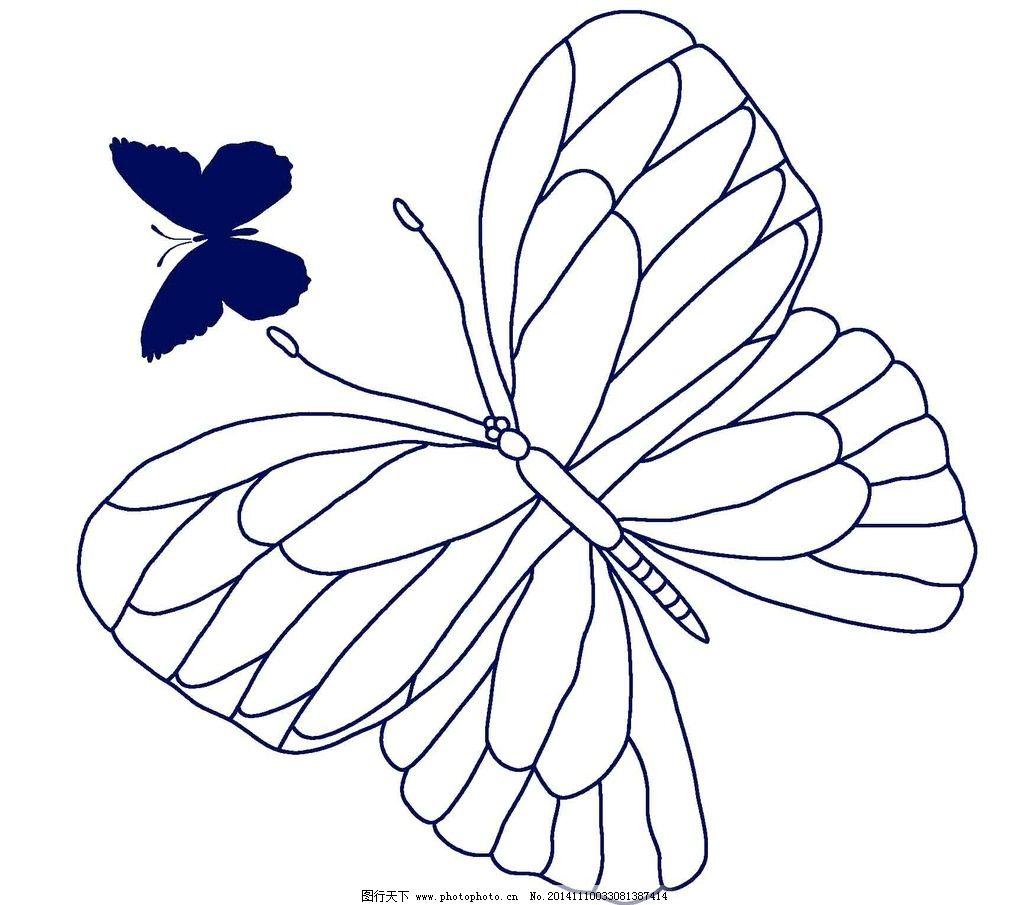 蝴蝶 昆虫 手绘