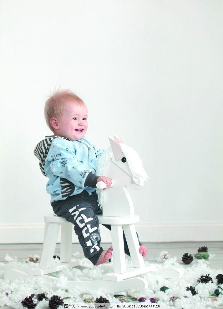 可爱婴儿模特 摄影图片