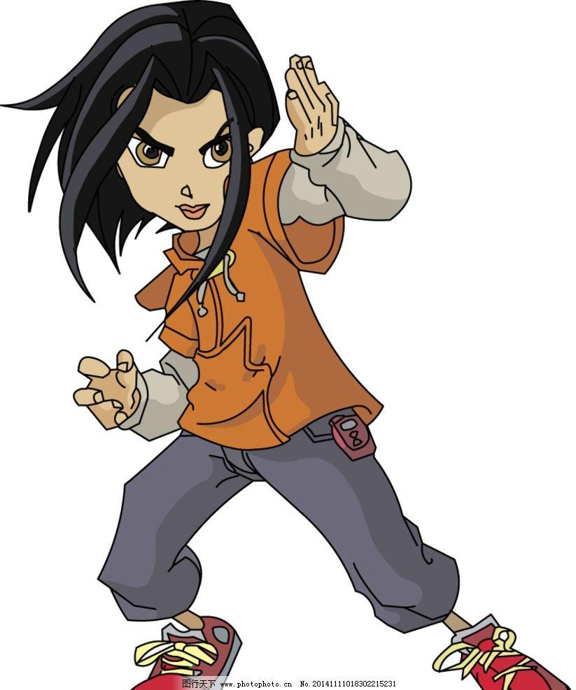 成龙历险记侠女 卡通图库 矢量设计 图标 手绘 抠图 动漫动画