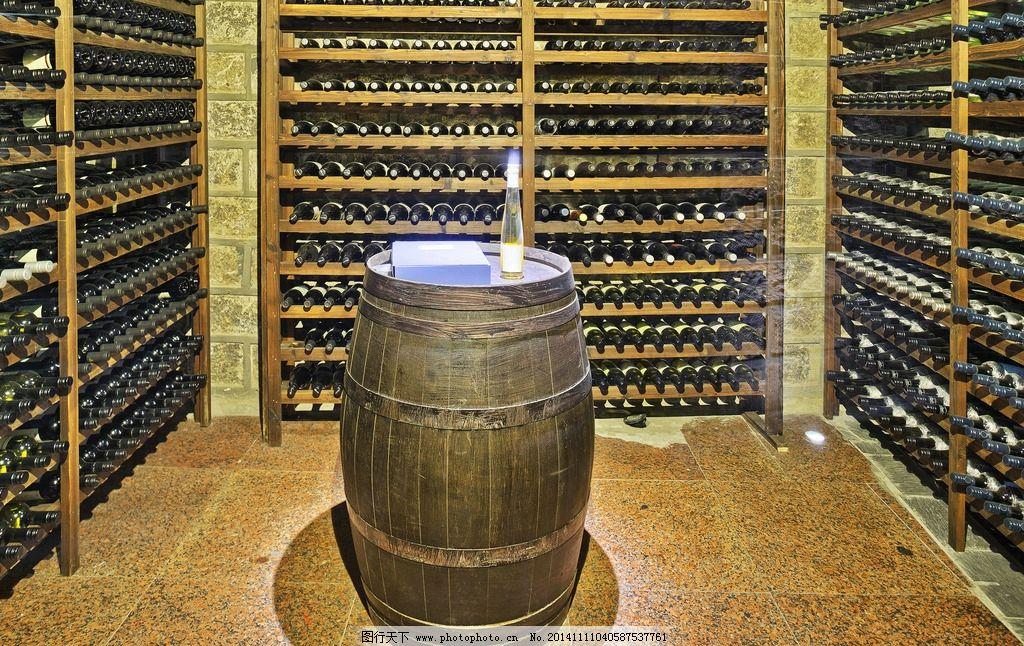 红酒地窖 酒桶 红酒 葡萄酒