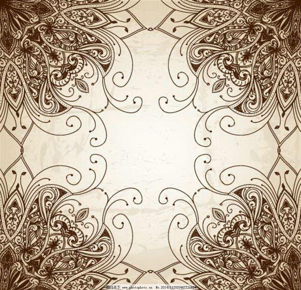 花纹 欧式背景 无缝 欧式底纹 金色 欧式古典 欧式古典花纹 背景底纹