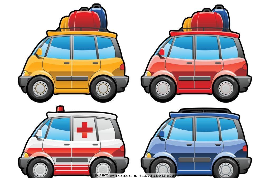 卡通彩色小汽车简笔画图片展示