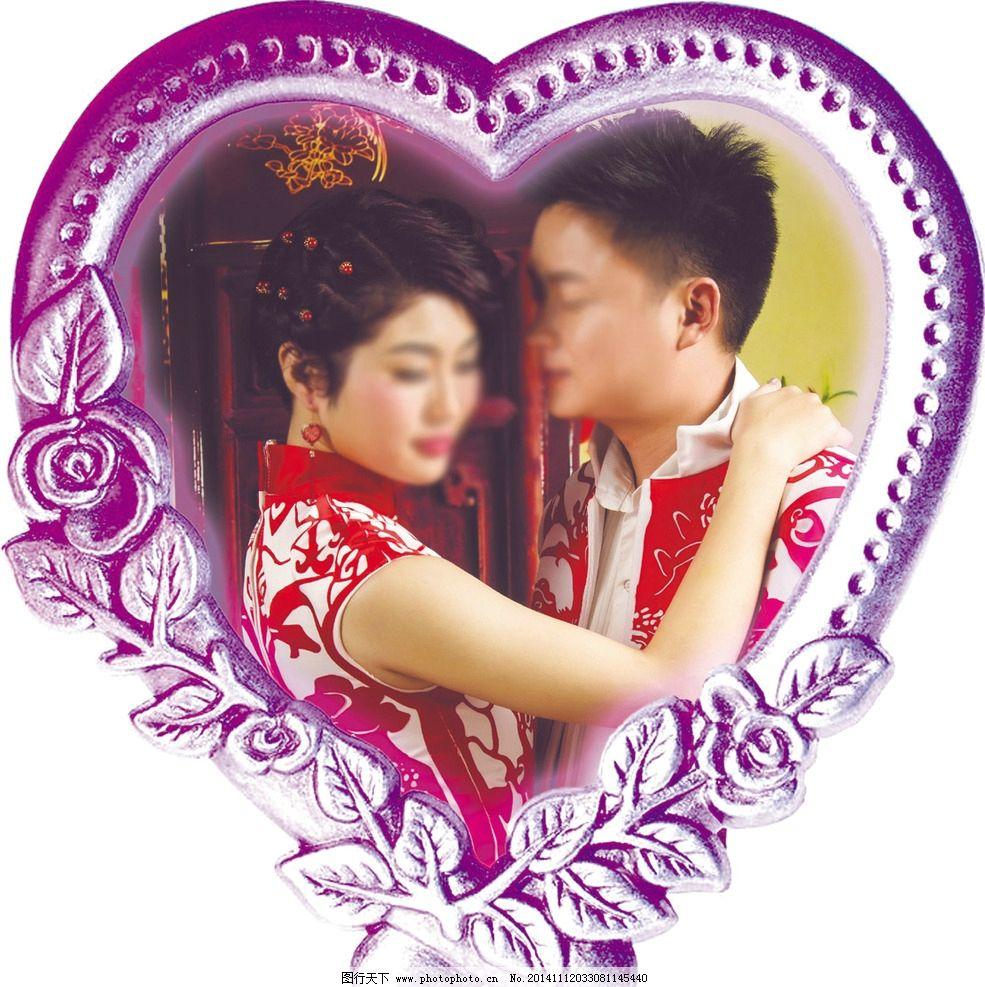 古典欧式心形婚礼背景图片