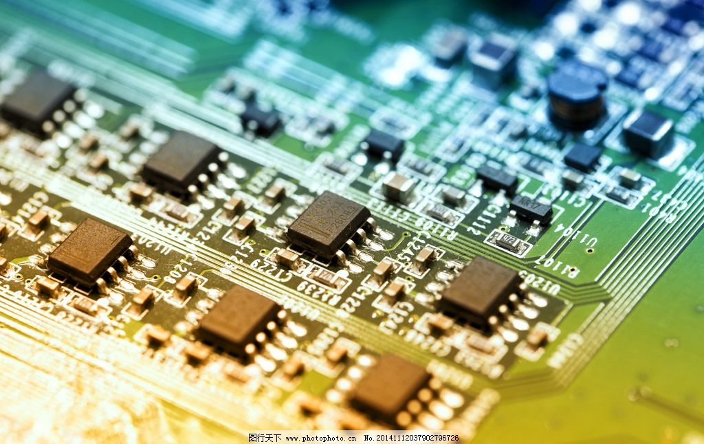 电路板 电脑主板 科技背景 芯片 集成板 线路排版 摄影