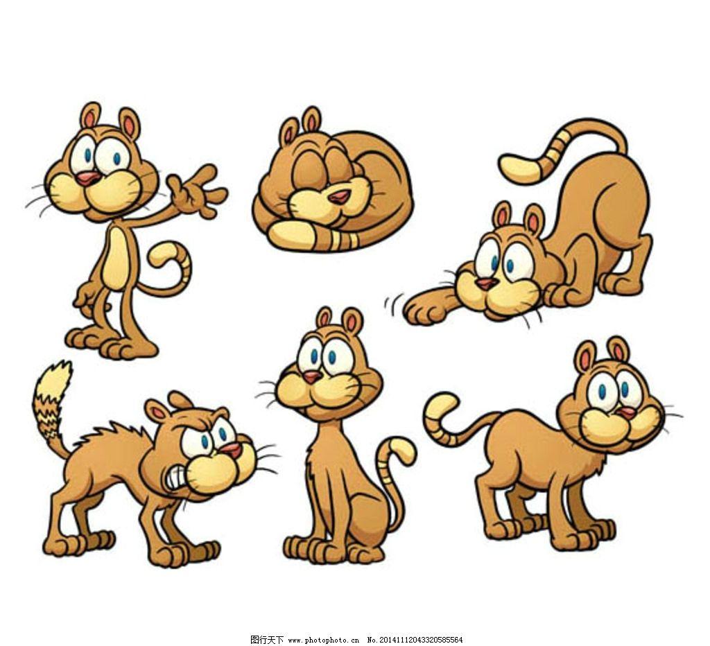卡通猫咪图片_ppt图表_ppt_图行天下图库