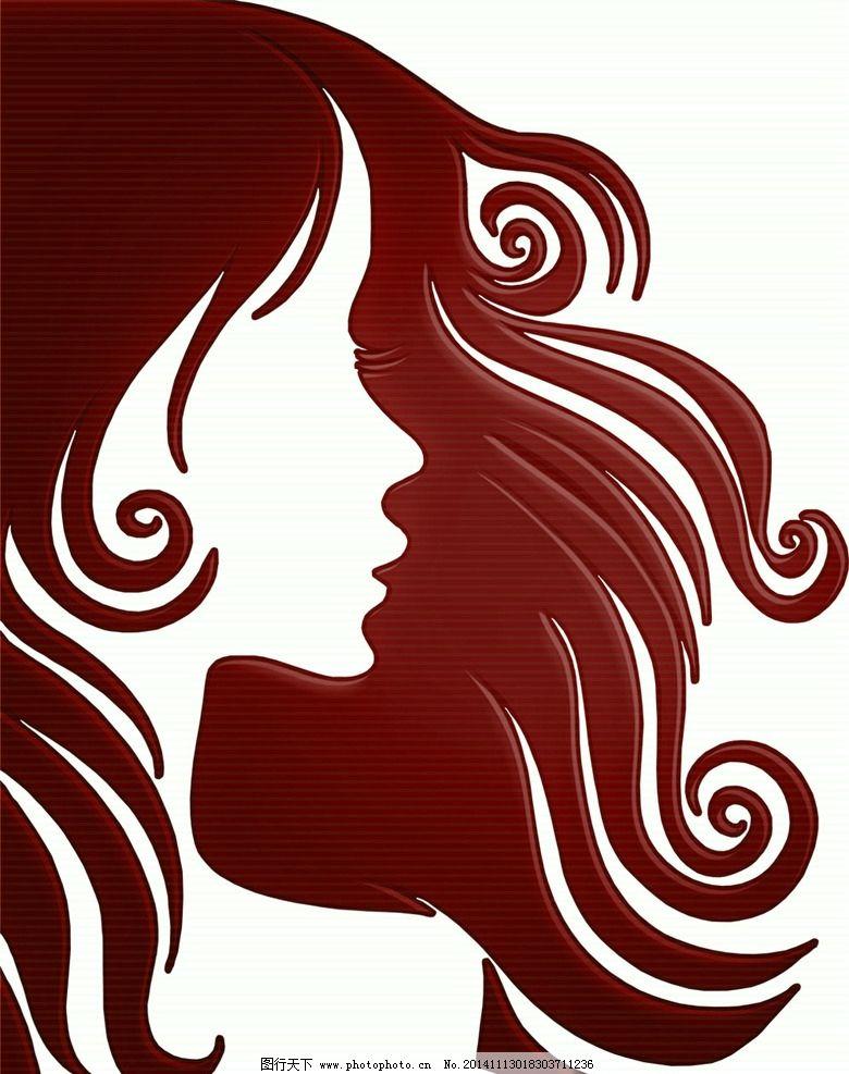 美女头发 女性发型 头 女性头发 卡通 卡通美女 美女卡通 动漫动画