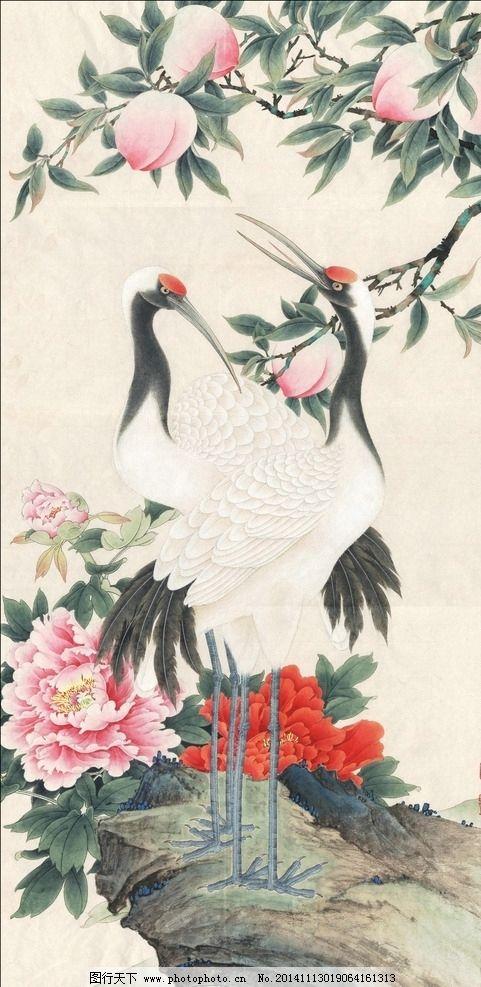 李晓明工笔画系列双鹤图片