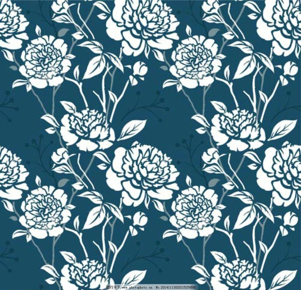 花朵素材底纹 花边花纹 古典花纹 欧式底纹 中国风底纹 矢量底纹 cdr图片