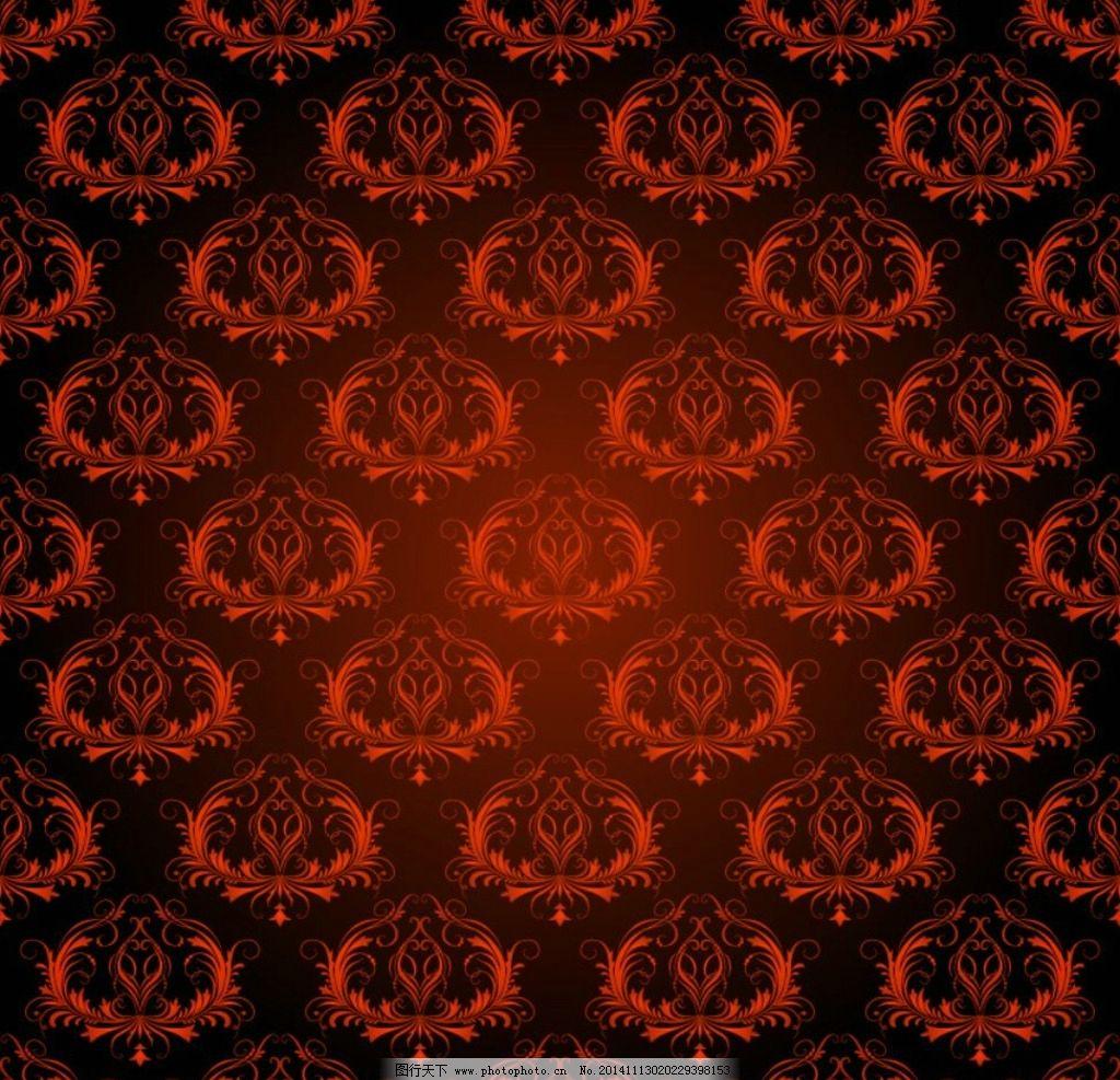 矢量底纹扣板 复古花 纹 传统花纹 装饰花纹 集成吊顶花纹 扣板花纹
