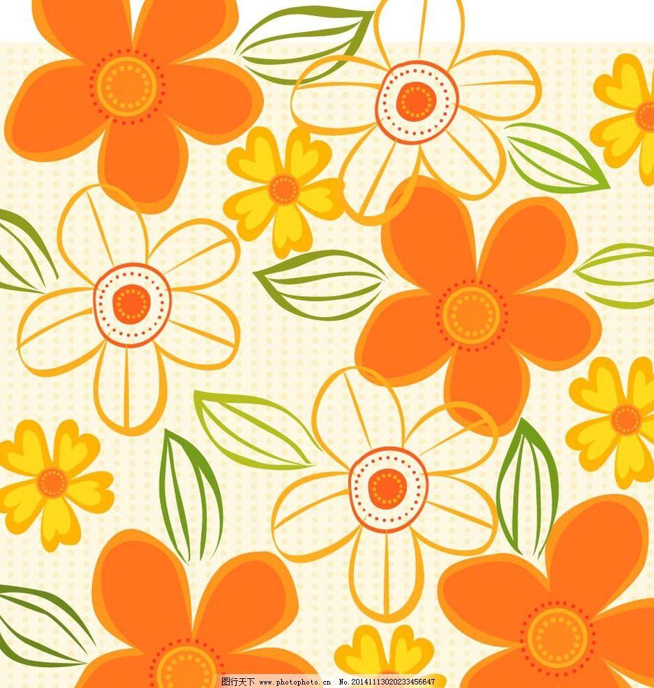 手绘花纹 鲜花背景 花纹图案 鲜花图案 布纹 墙纸纹 印花 时尚花纹