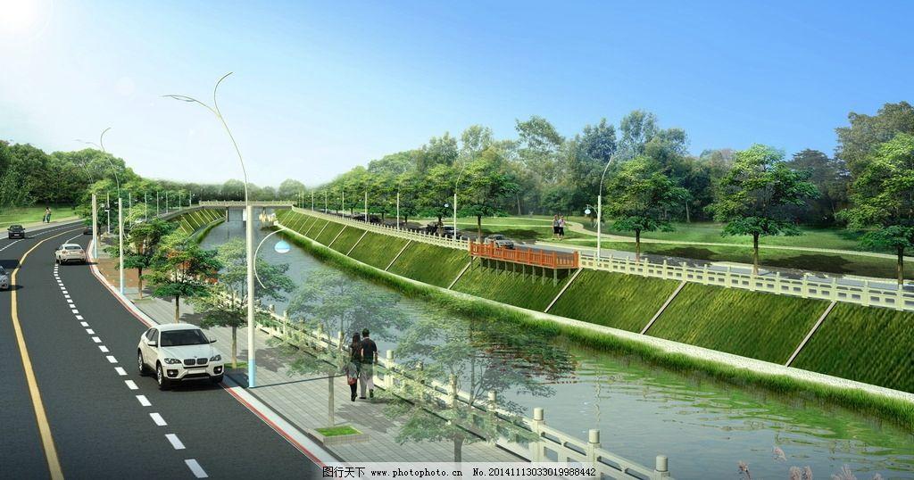 景观河道设计图片