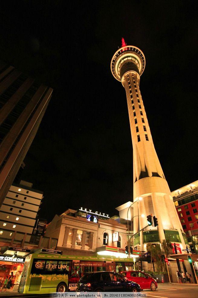新西兰城市夜景图片