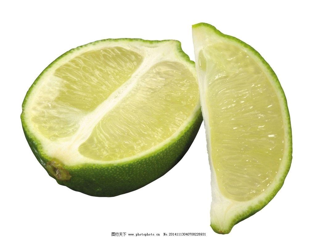 水果 柠檬 柠檬果 切开的柠檬果 纯背景柠檬 摄影图片