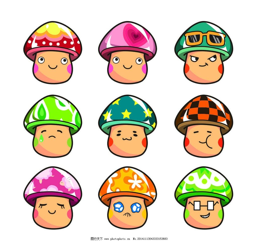 可爱卡通蘑菇头图片