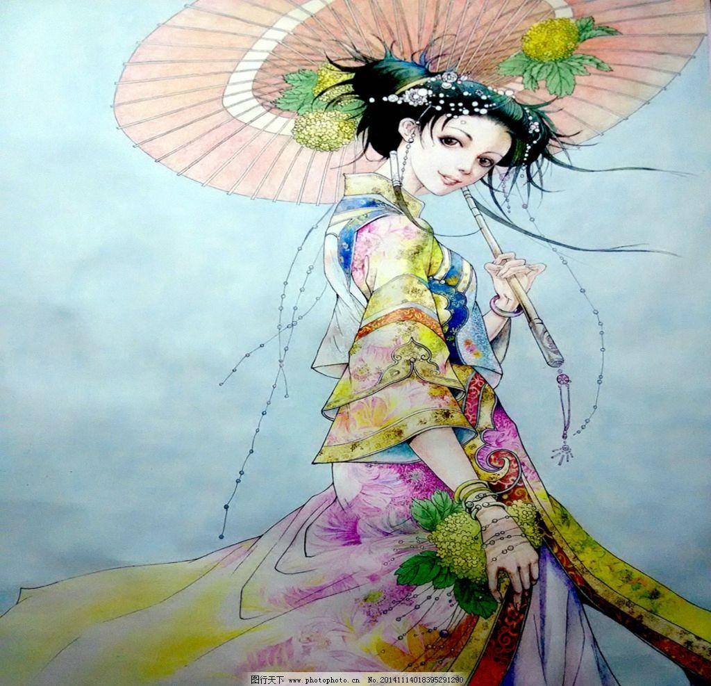 古典美女图片,工艺术品设计 刺绣设计 贝雕工艺设计