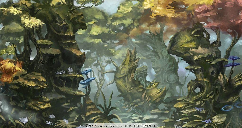 场景 游戏 魔幻 植物 作业 练习 游戏 设计 动漫动画 风景漫画 120dpi