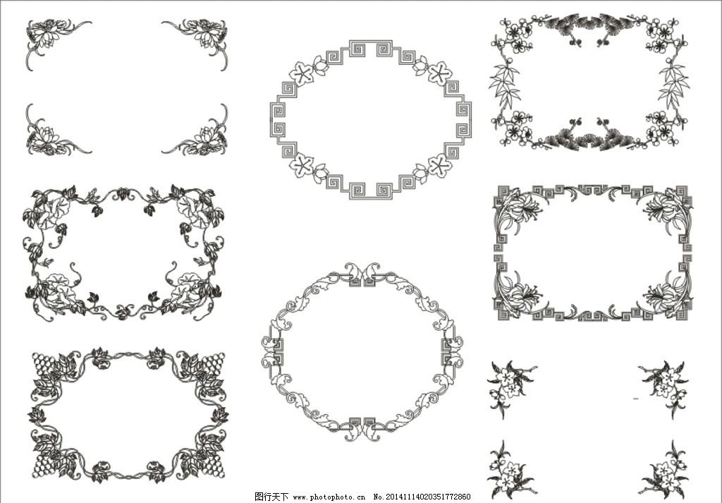 角花矢量图图片