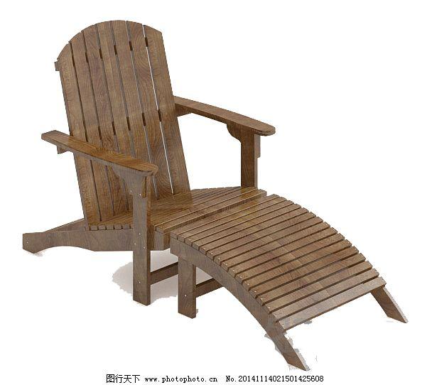 新中式      固定腿 阳台椅 花园躺椅 新中式 3d模型素材 其他3d