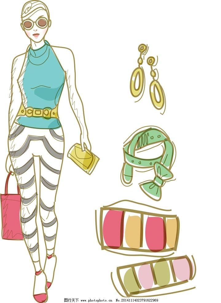 卡通手绘衣服饰品