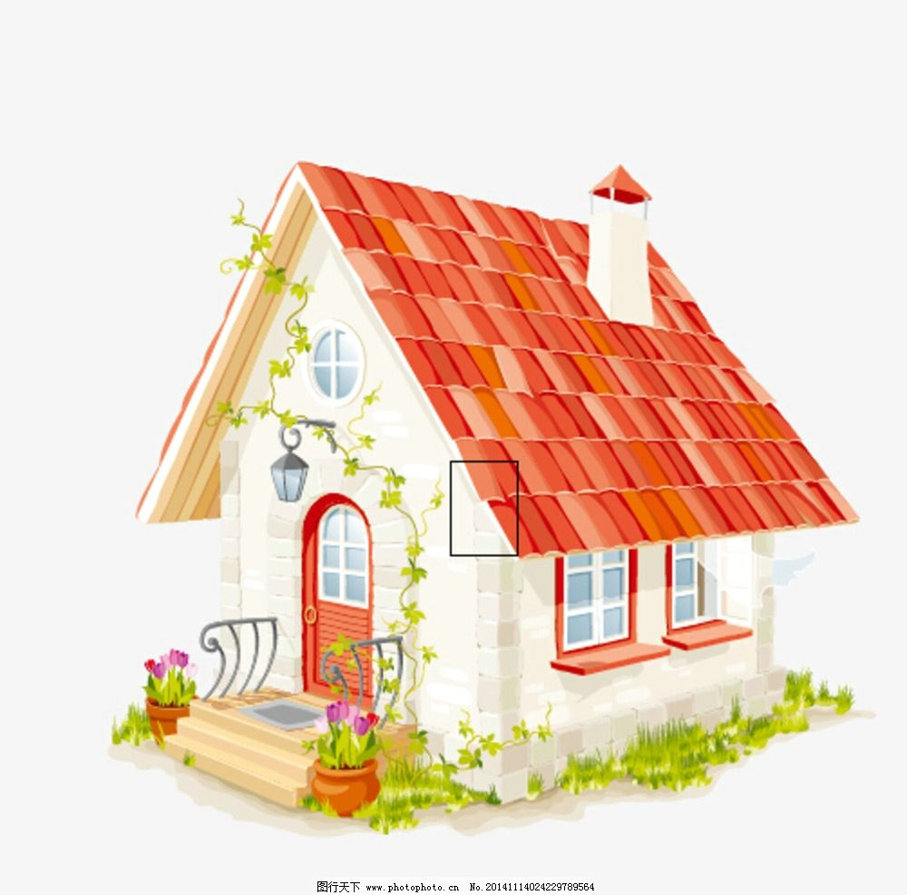 房子 卡通 手绘 矢量 卡通房子 设计 自然景观 建筑园林 ai