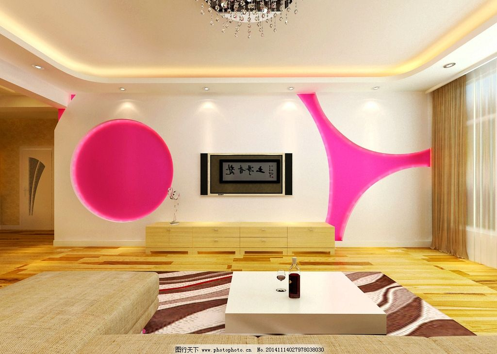 电视墙        现代 吊顶        设计 环境设计 室内设计 72dpi