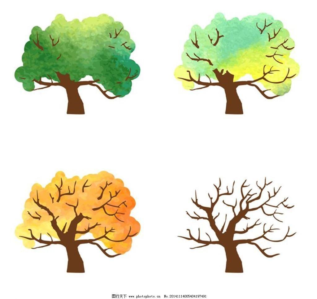 春夏秋冬四季 大树 树