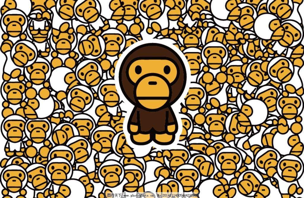 可爱图片 壁纸大嘴猴