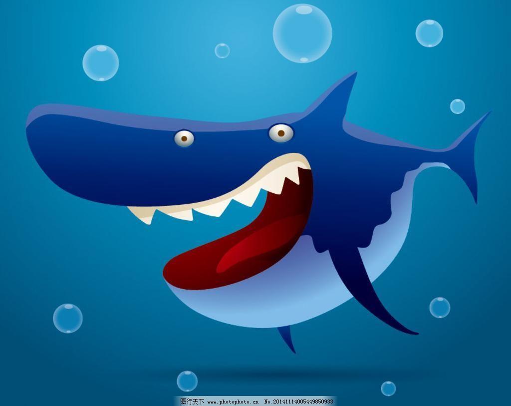 鲨鱼挣扎手绘图