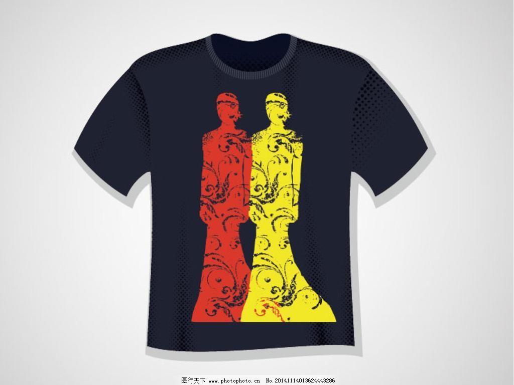 t恤图案 潮流元素 创意设计 广告设计 印花 时尚 手绘插画 服装设计图