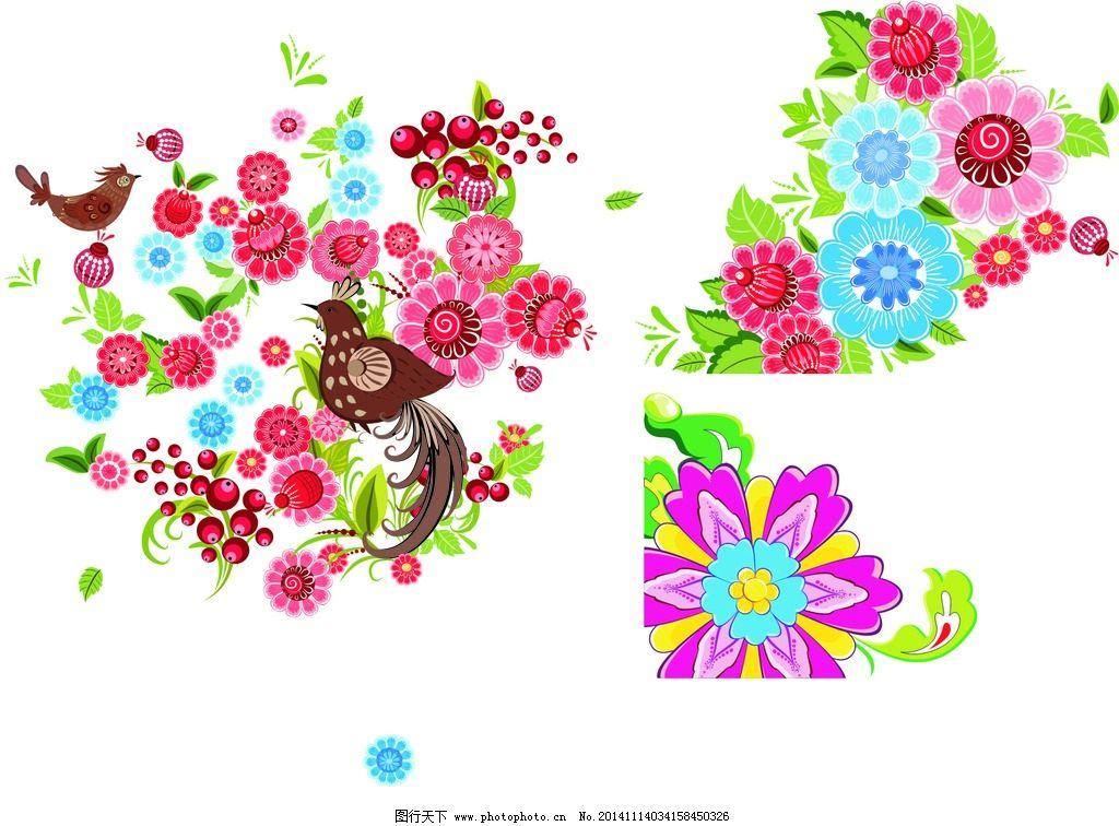 手绘花朵 春天素材图片