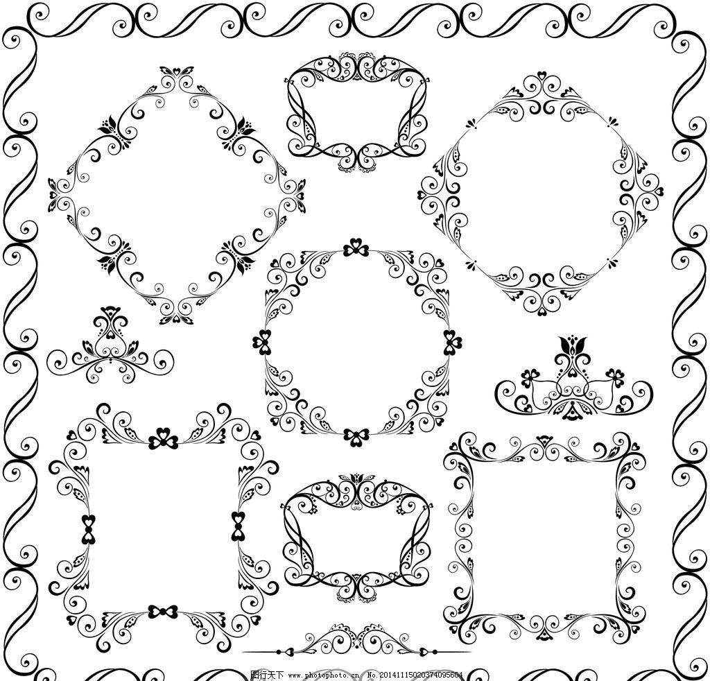 建筑花纹 手绘花纹 传统花纹 时尚花纹 矢量 设计  设计 底纹边框