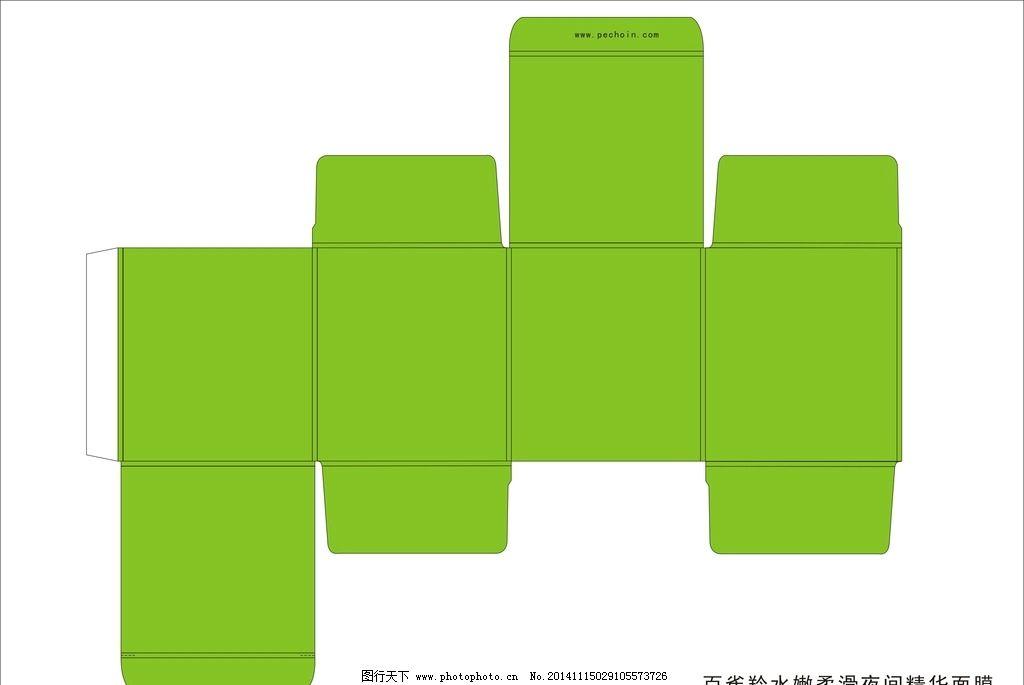 百雀羚 睡眠 面膜 展开图 包装 盒子 设计 广告设计 包装设计 cdr
