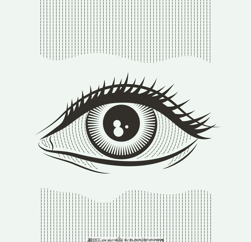 眼睛 矢量眼睛 手绘眼睛 广告设计 其他