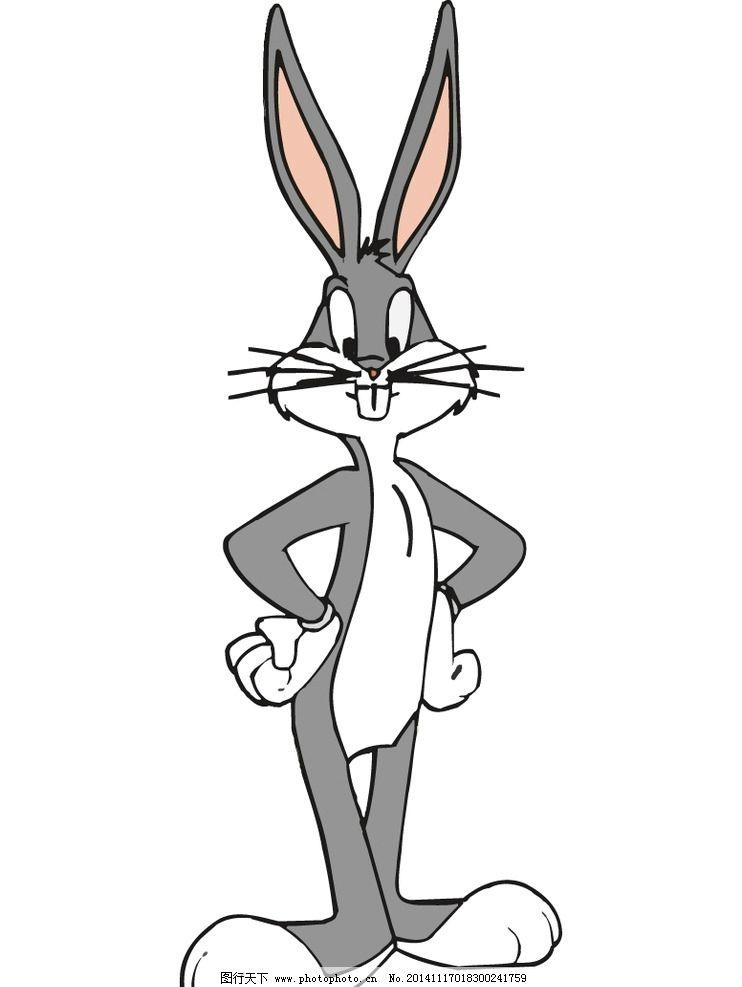 兔八哥 卡通形象 卡通图库 矢量设计 图标 设计 手绘 抠图 动漫动画