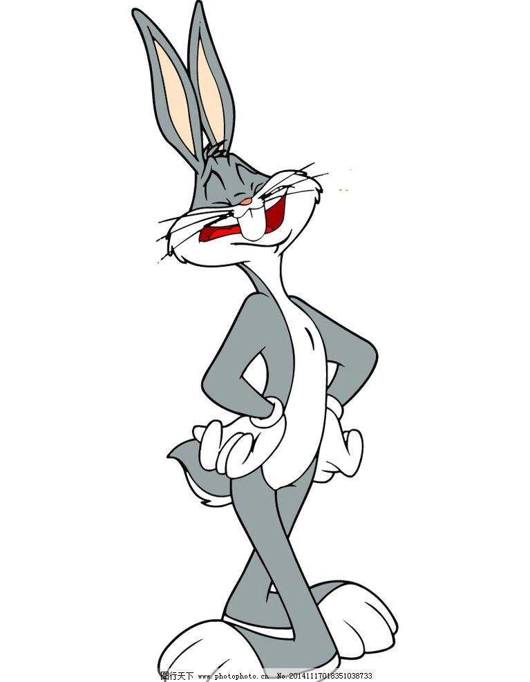兔八哥昂首挺胸 卡通图片