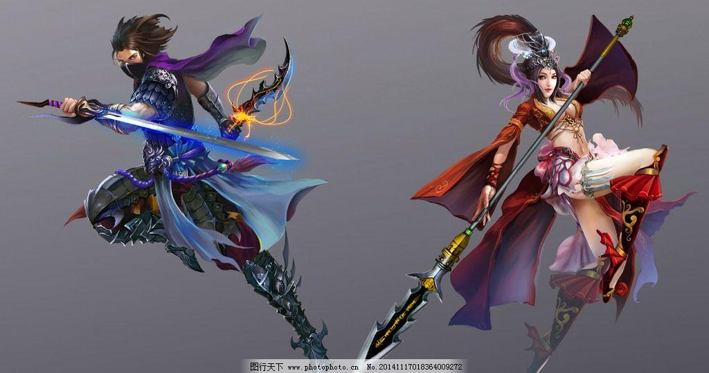 游戏 游戏原画 原画 游戏人物 免抠素材 玄幻 武侠 美女 刺客 设计