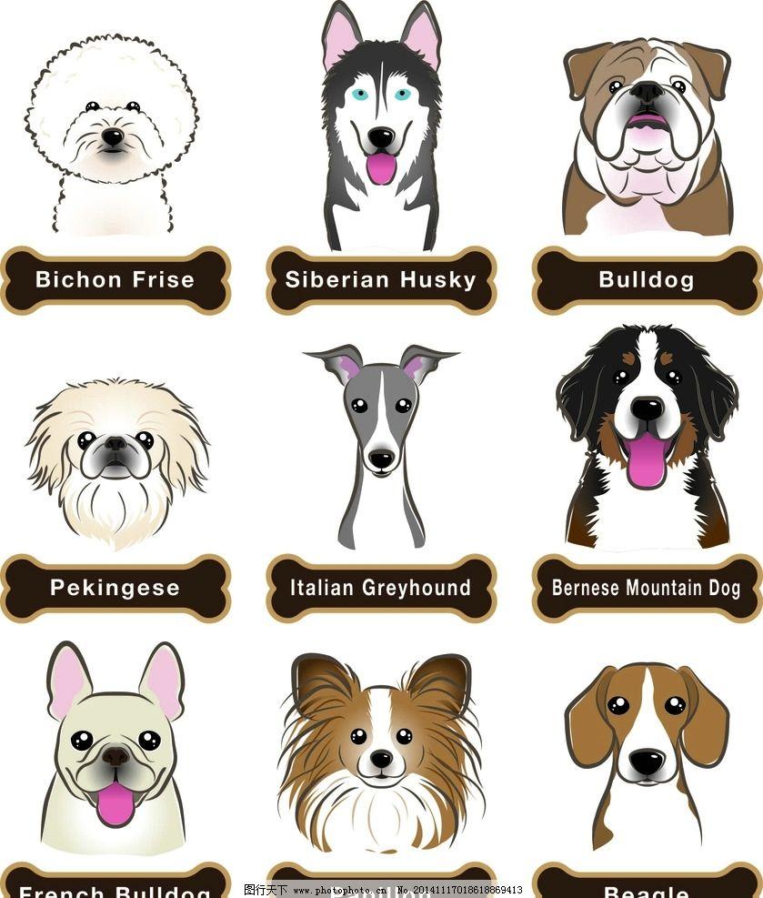 卡通狗狗头像图片