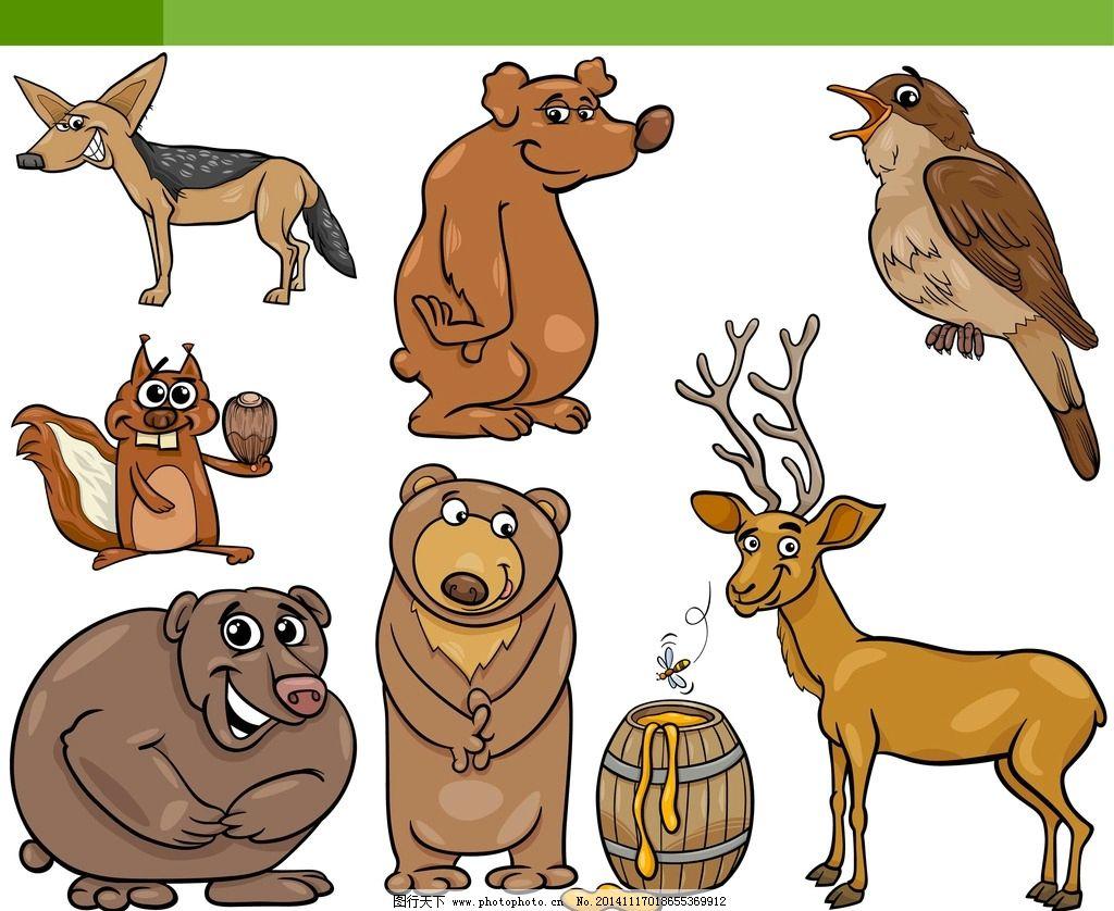 卡通动物 可爱卡通动物 动物 卡通形象 卡通猪 幼儿园 儿童简笔画