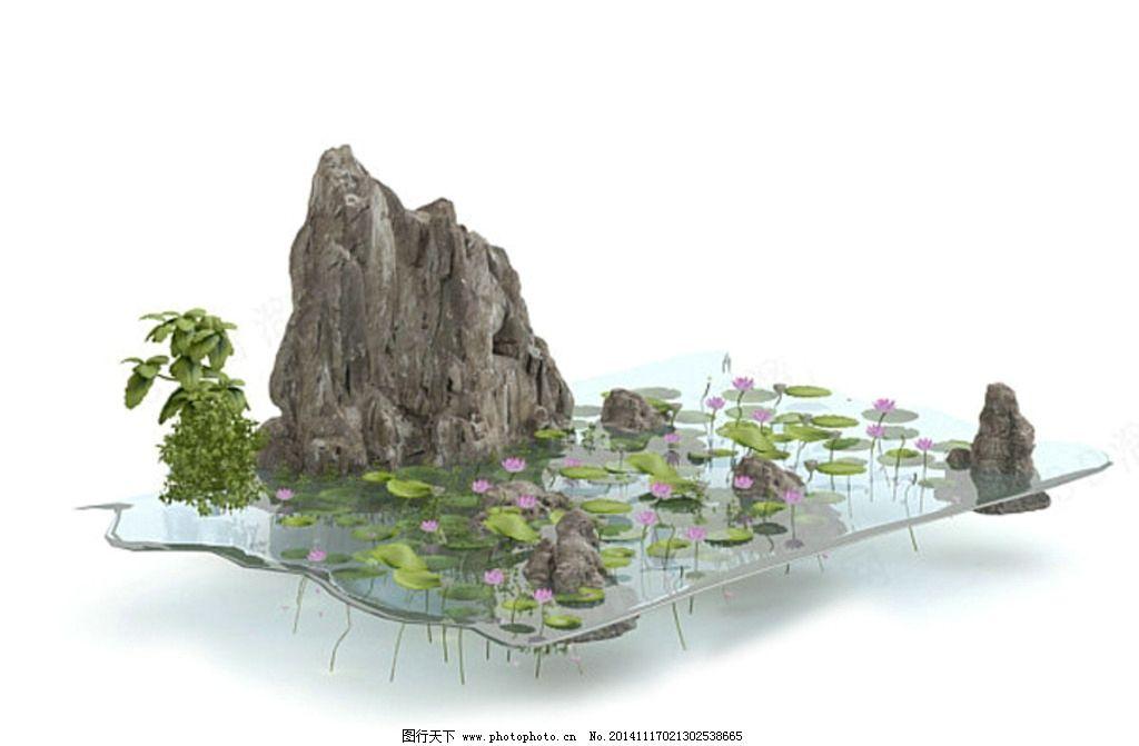 园林小品 景观小品 假山 室内模型 山水模型 园林景观小品