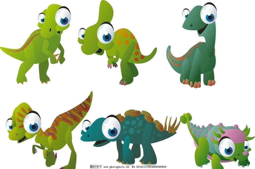 手绘 装饰素材 可爱卡通动物 卡通动物 矢量动物 动物素材 卡通恐龙