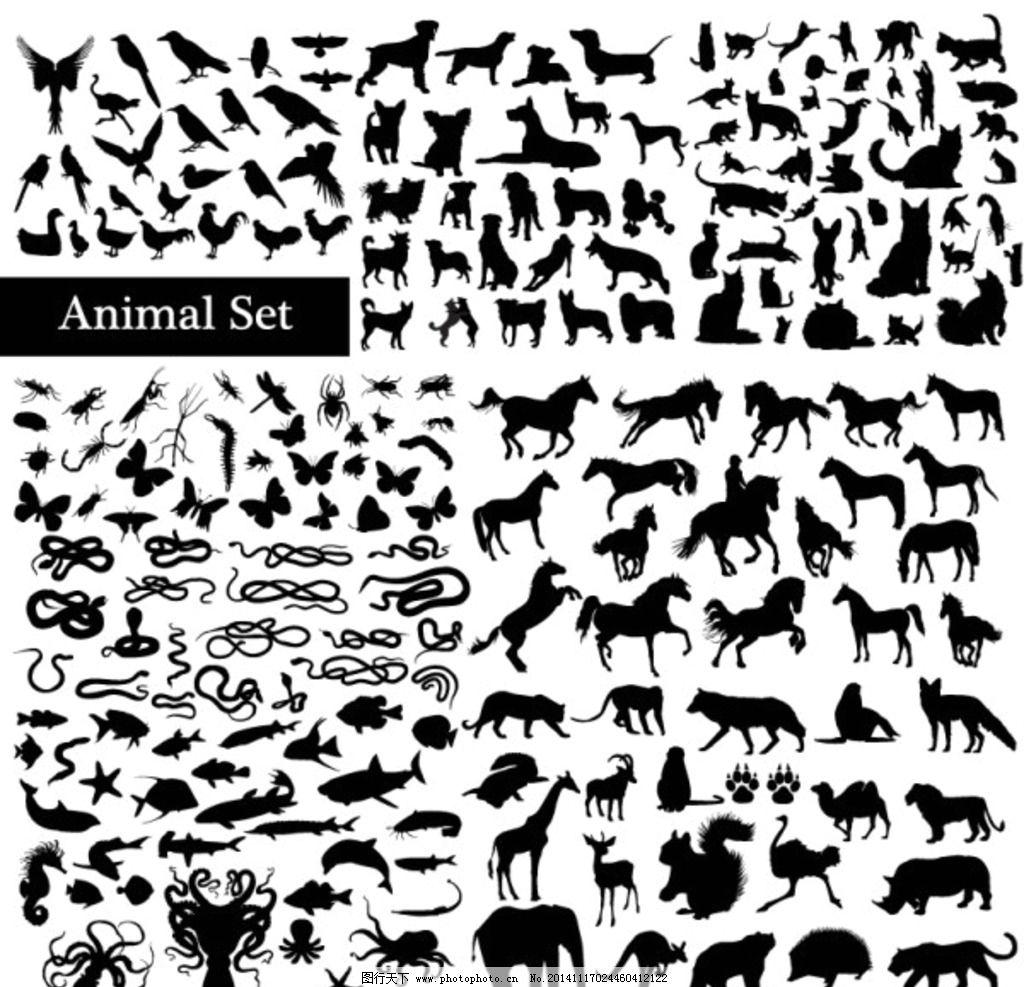 动物矢量剪影图图片