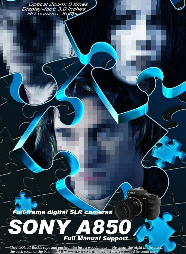 电视广告 电影海报 封面设计 索尼 相机 欧美人物 大片 欣赏 蓝黑色