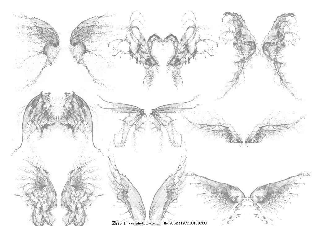 天使翅膀图片手绘 彩铅