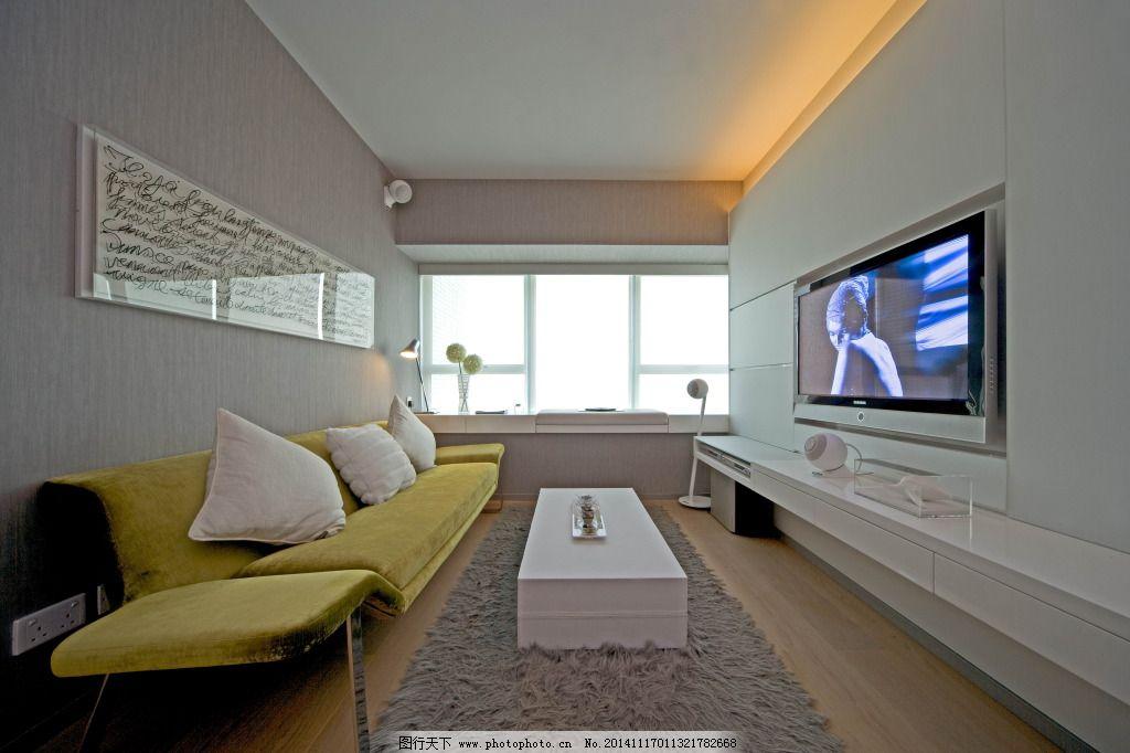 室内客厅放映室3d效果图_室内设计_装饰素材_图行天下