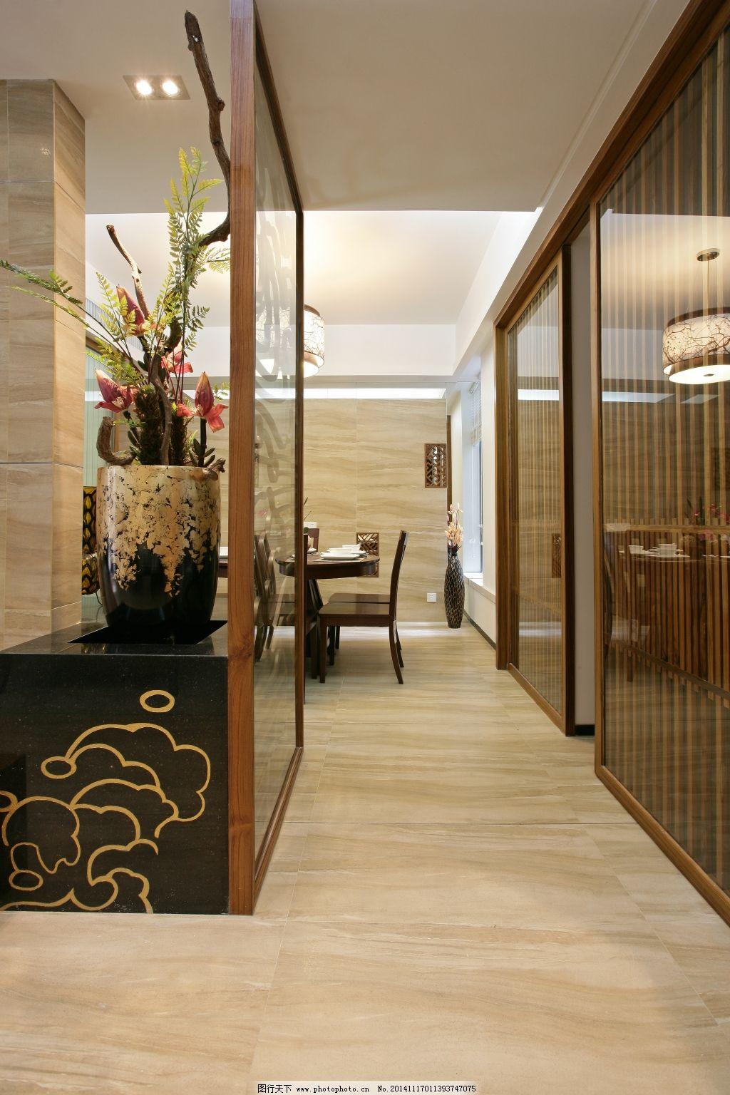 客厅门廊3d效果图 客厅门廊高清渲染图 家居装饰素材 室内设计
